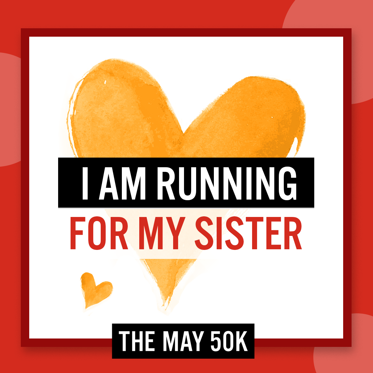 Social Posts - Run For Sister