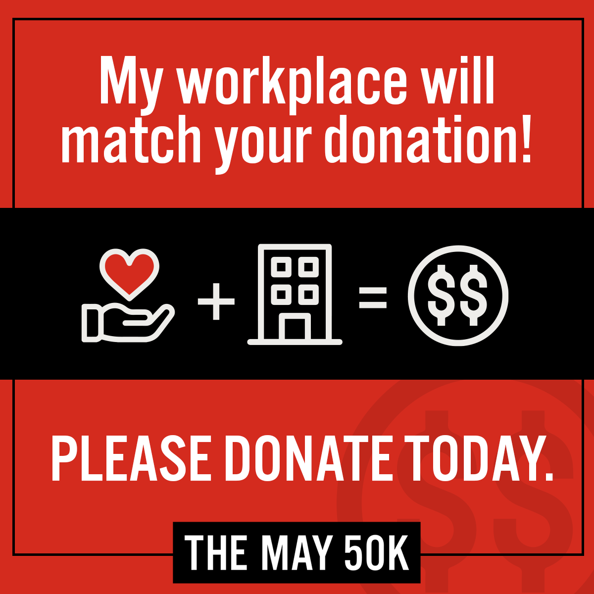 Workplace Social Post - Matched Giving